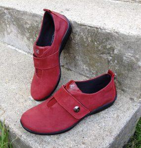 chaussure confort acopedico chaussure rouge à velcro